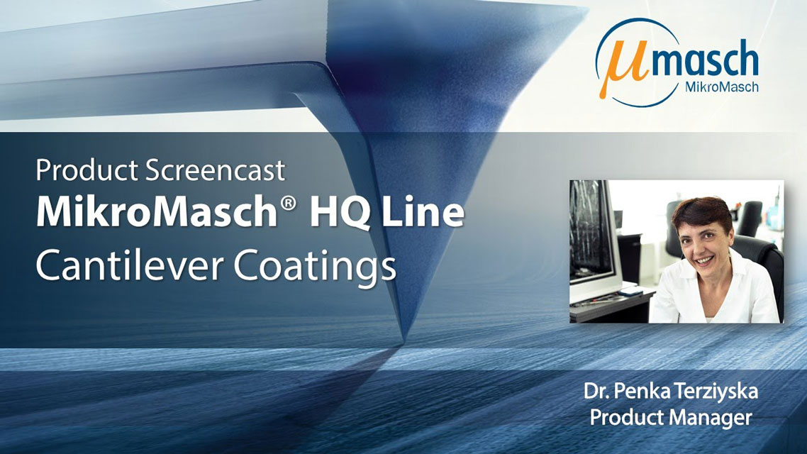 <h3>Product Screencast on Cantilever Coatings</h3> Presented by Dr. Penka Terziyska <br />Product Manager